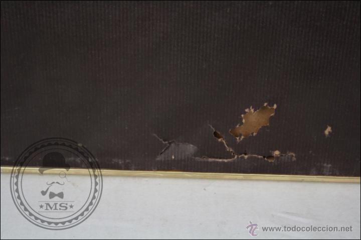 Arte: Dibujo al Pastel Enmarcado, de Domingo Álvarez - Chica Pensativa - Medidas 64 x 50 Cm - Foto 7 - 46535731