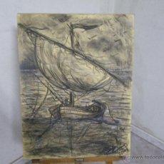 Arte: ESPLENDIDO DIBUJO AL CARBONCILLO DEDICADO FECHADO EN EL 2001 Y FIRMADO POR ZALO. Lote 46666833