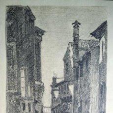 Arte: EXCELENTE PAISAJE ORIGINAL DE VENECIA, SIGLO XIX, TRAZO IMPRESIONISTA, GRAN CALIDAD, 41 X 21 CM. Lote 46669570