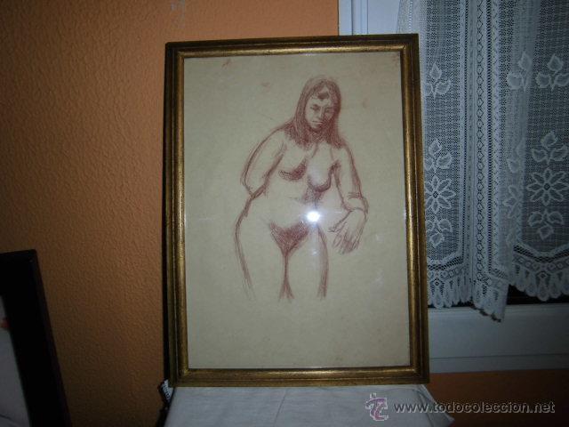 DESNUDO MUJER ANTONIO PARDO LEER (Arte - Dibujos - Modernos siglo XIX)
