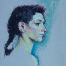 Arte: DIBUJO DE JOVEN AL PASTEL DE JOAN PALET. Lote 40381256