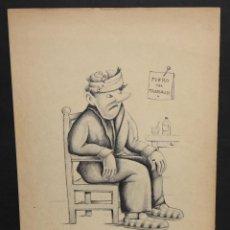 Arte: JUAN ESTIARTE SAMSÓ (BARCELONA 1901 - 1986) TECNICA MIXTA SOBRE PAPEL. PERSONAJE. Lote 46783739