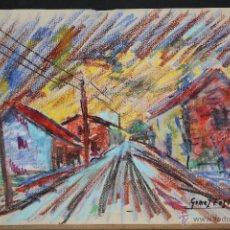 Arte: VICENTE GOMEZ FUSTE. DIBUJO A PASTEL. PAISAJE. Lote 46793817