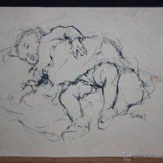 Arte: GURMENSINDO SAINZ DE MORALES. DIBUJO A TINTA SOBRE PAPEL. NIÑO. Lote 180088220