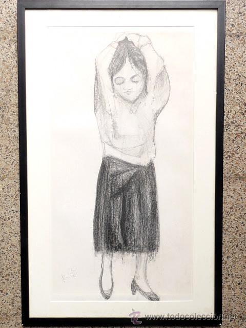 DIBUJO CARBONCILLO.FIRMA ILEGIBLE. (Arte - Dibujos - Contemporáneos siglo XX)