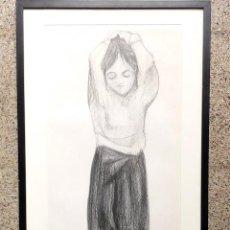 Arte: DIBUJO CARBONCILLO.FIRMA ILEGIBLE.. Lote 46953521
