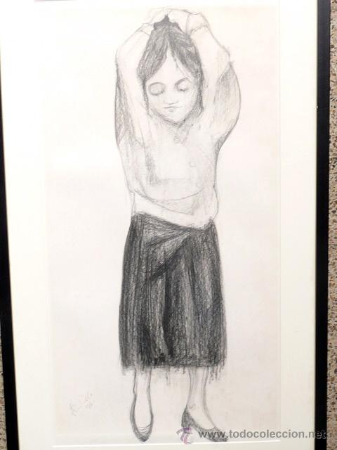 Arte: dibujo carboncillo.firma ilegible. - Foto 2 - 46953521