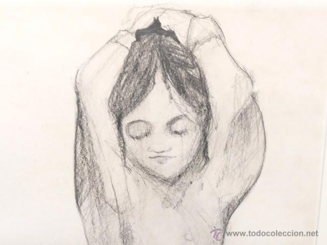 Arte: dibujo carboncillo.firma ilegible. - Foto 3 - 46953521