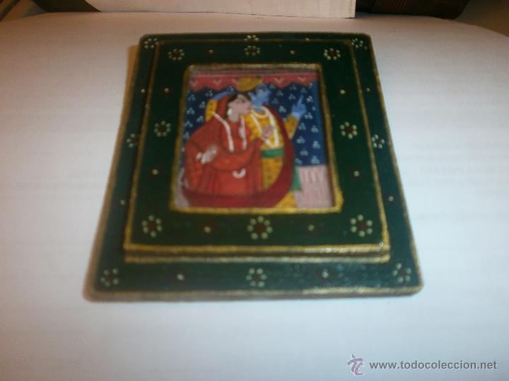 pequeño dibujo pareja indú, marco dedorado y cr - Comprar Dibujos ...