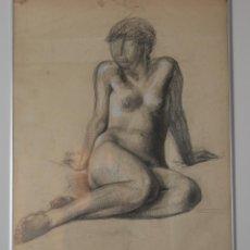 Arte: DESNUDO DE UNA MUJER JOVEN - FIRMADO EN 1982 - EUROPA DEL ESTE ( RUSIA? ). Lote 46983267