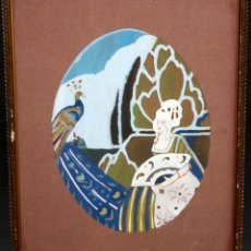 Arte: JOAN MOLAS SABATE (TARRAGONA, 1887 - ??) GOUACHE SOBRE PAPEL DE LOS AÑOS 30. DAMA ART-DECO. Lote 47078024