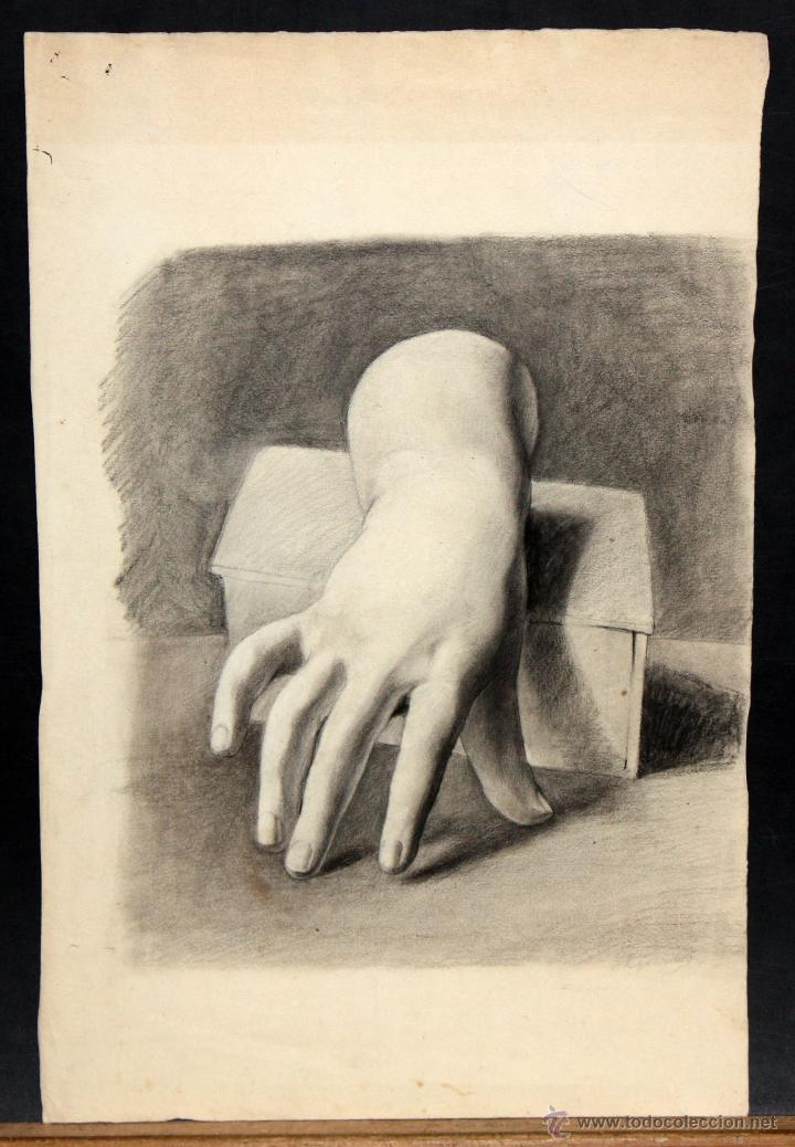 ANONIMO. DIBUJO A CARBON. MANO (Arte - Dibujos - Contemporáneos siglo XX)