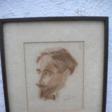 Arte: JOAN PINOS SALA,RETRATO,DIBUJO A LAPIZ 1890'S.. Lote 47164236