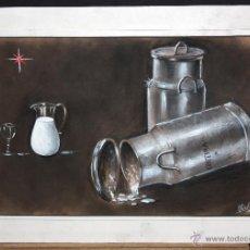 Arte: FIRMADO ROVIRA. TECNICA MIXTA SOBRE PAPEL. BODEGON. Lote 47183980