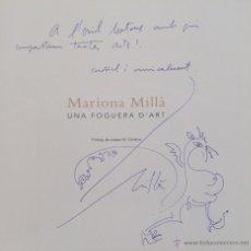 Arte: DIBUJO ORIGINAL EN PAGINA DE LIBRO DE MARIONA MILLA SALINAS. Lote 47200424