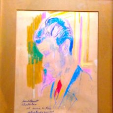 Arte: IGNASI MUNDÓ, DIBUIX ORIGINAL, MEDITANT CHARLESTON, SR RIUS 1976 50X30. Lote 47214152
