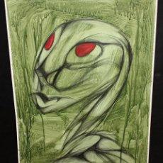 Arte: ANONIMO. TECNICA MIXTA SOBRE CARTULINA. ABSTRACTO. Lote 47225043