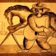 Arte - dibujo ilegible de la galeria Regoni de Torino. - 47258033