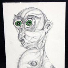 Arte: ANONIMO. TECNICA MIXTA SOBRE PAPEL. ABSTRACTO. Lote 47276406