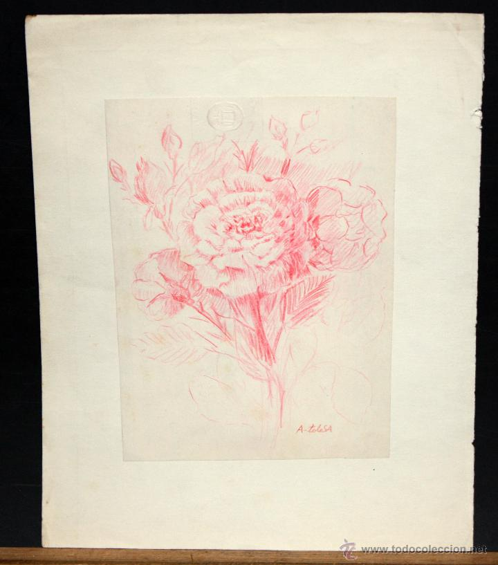 aurelio tolosa. dibujo a lapiz de color. flores - Comprar Dibujos ...