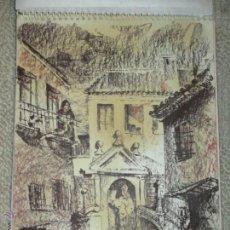 Arte: VISTA DE TOLEDO, CARBONCILLO SANGUINA DEL PINTOR CÁNTABRO SERGIO DEL POZO COSSÍO, 1976 32X23 CM. Lote 47319499