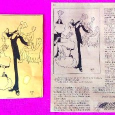 Arte: DIBUIX ORIGINAL MUSICAL DE LOLA ANGLADA. 20X13. ADJUNTEM FACSIMIL DEL PATUFET 1933. Lote 47342551