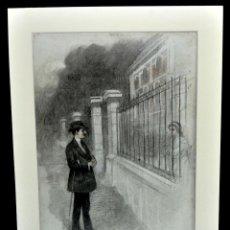 Arte: ESCUELA CATALANA DEL 1910-1915. DIBUJO A CARBÓN. TITULADO VIDA TRIOMFANT. Lote 47418274