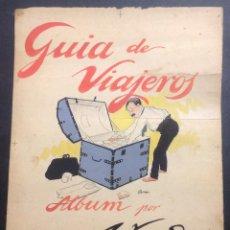 Arte: ILUSTRACIÓN ORIGINAL DE XAUDARÓ. GUIA DE VIAJEROS, ALBUM POR XAUDARÓ. CUBIERTA ORIGINAL.. Lote 47426264
