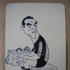 Arte: DIBUJO A PLUMILLA DE GARAY, JUGADOR DEL CLUB DE FUTBOL BARCELONA 1950'S.. Lote 47429031