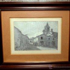 Arte: DIBUJO LITOGRÁFICO DE FRANCISCO GIMENO.PALAUTORDERA 1885.. Lote 47643805