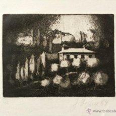 Arte: MARAVILLOSO PAISAJE DE LA TOSCANA, FIRMADO Y FECHADO A LÁPIZ 1964, BUEN ESTADO. Lote 47688525