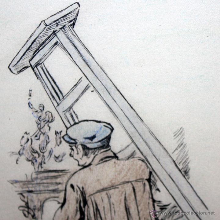 Arte: JOAN PELLICER MONTSENY (Barcelona, 1863 - L'Escala, 1914) DIBUJO A TINTA COLOREADO - Foto 7 - 47696190