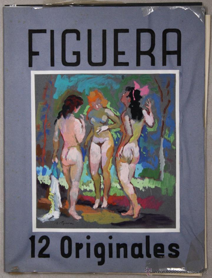 LIBRO ARTISTA BILBAINO RAFAEL FIGUERA. 12 ORIGINALES DE DESNUDOS. AÑOS 60 (Arte - Dibujos - Contemporáneos siglo XX)