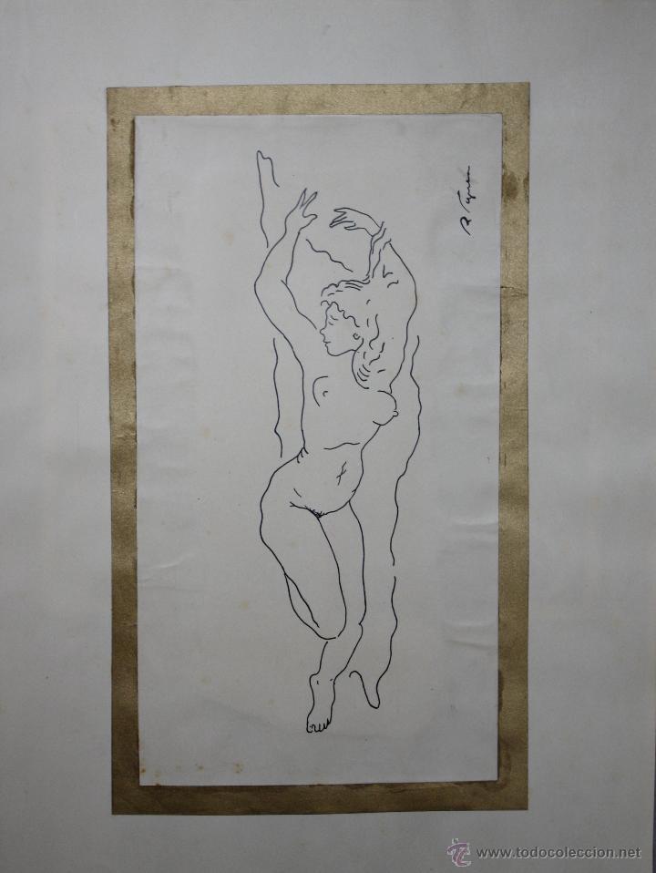 Arte: LIBRO ARTISTA BILBAINO RAFAEL FIGUERA. 12 ORIGINALES DE DESNUDOS. AÑOS 60 - Foto 5 - 47718923