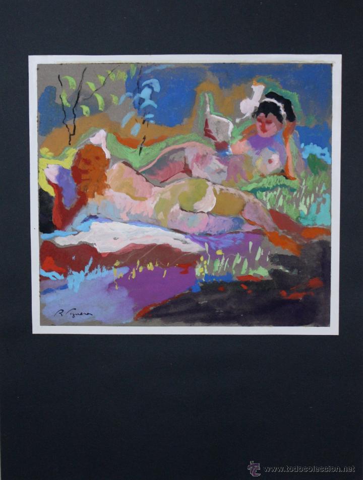 Arte: LIBRO ARTISTA BILBAINO RAFAEL FIGUERA. 12 ORIGINALES DE DESNUDOS. AÑOS 60 - Foto 6 - 47718923
