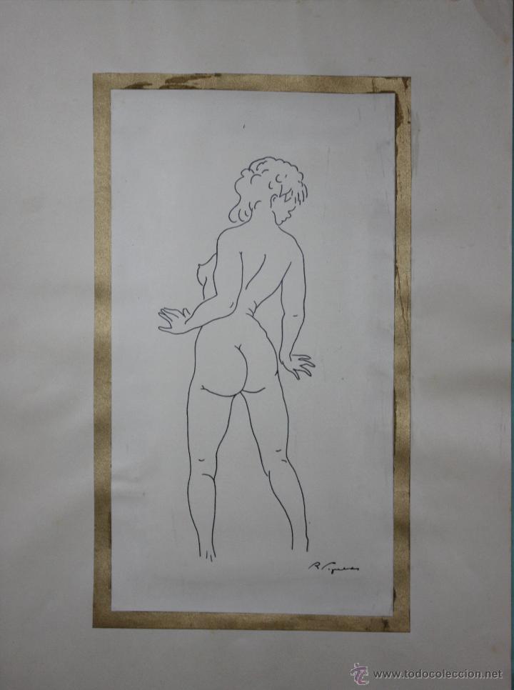 Arte: LIBRO ARTISTA BILBAINO RAFAEL FIGUERA. 12 ORIGINALES DE DESNUDOS. AÑOS 60 - Foto 11 - 47718923