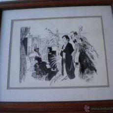 Arte: BONITO DIBUJO A TINTA DE CAMPILLO 1973.. Lote 47810822