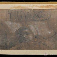 Arte: ANÓNIMO FECHADO DEL AÑO 1871. DIBUJO A CARBÓN CON TOQUES DE CLARIÓN. Lote 48014676