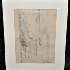 Arte: ANTONI RIGALT I BLANCH (BARCELONA, 1861 - 1914) DIBUJO A LÁPIZ SOBRE PAPEL. PAISAJE. Lote 48017702