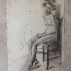 Arte: GRAN DIBUJO A GRAFITO ARTISTA ALEMAN . PAPEL EN FILIGRANA PL BAS . SIGLO XIX. Lote 48074716