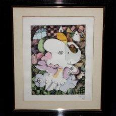 Arte: EDUARDO ALCOY LÁZARO (BARCELONA, 1930 - MATARÓ, 1987) TÉCNICA MIXTA EN PAPEL. COMPOSICIÓN ABSTRACTA. Lote 48111188
