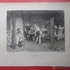 Arte: CHRISTOPHER SLY. ORCHARDSON. SHARPE (37 X 26,50 CM. DIBUJO 24 X 17 CM). Lote 48152912