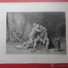 Arte: PRINCE ARTHUR AND HUBERT. POTT. DESVACHEZ (37 X 26 CM. DIBUJO 25 X 18 CM). Lote 48153218