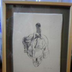 Arte: DIBUJO A PLUMILLA FIRMADO.. Lote 48202130