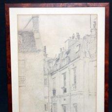 Arte: DIBUJO A LÁPIZ SOBRE PAPEL DE AUTOR ILEGIBLE. FECHADO EN PARÍS DEL AÑO 1893. Lote 48265698
