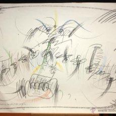 Arte: JAUME ANGLÉS BERGARA (BARCELONA, 1943) TÉCNICA MIXTA SOBRE PAPE DEL AÑO 1980. 68 CM. X 97 CM.. Lote 48267778