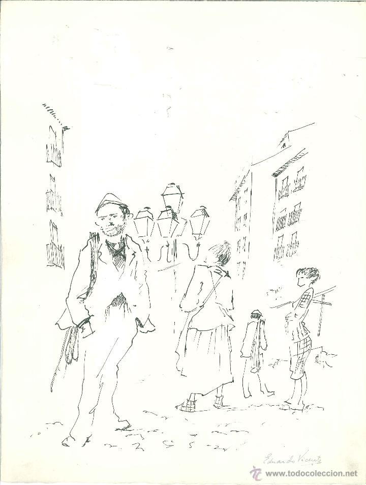 CABECERA DEL RASTRO POR EDUARDO VICENTE (Arte - Dibujos - Contemporáneos siglo XX)