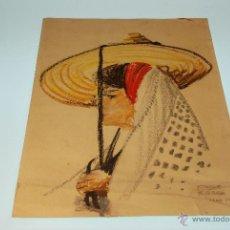Arte: DIBUJO A PASTEL - JORGE FERRER - OBRA ORIGINAL - ABRIL 1973 - MEDIDA: 39,2 X 30 CM - . Lote 48326948