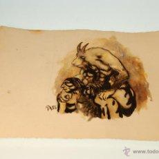 Arte: ESPECTACULAR DIBUJO - TECNICA MIXTA - ACUARELA Y PLUMA - FIRMA A85 - OBRA ORIGINAL - MEDIDA: 35 X 25. Lote 48327223