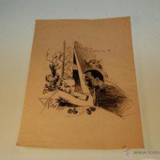 Arte: DIBUJO TIPO COMIC TECNICA MIXTA - PAREJA - ORIGINAL -FIRMA A. RODRIGUEZ 85 - MEDIDA: 31,5 X 21,5 CM.. Lote 48327446